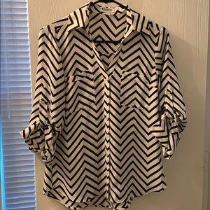 Express chevron Portofino shirt